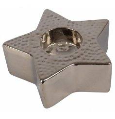 A star shaped block tealight holder