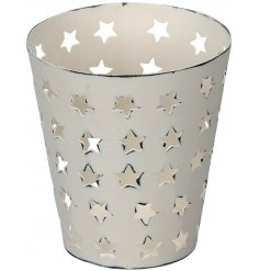 A small Cut Out Star Tealight