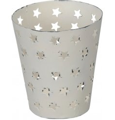 A cut out star tealight holder