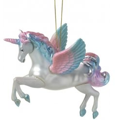 A magical must have Unicorn decoration for your Christmas tree and home decoration.