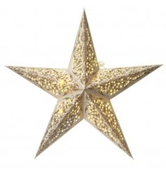 Hang this beautifully patterned LED star above any tree or window for a stylish look