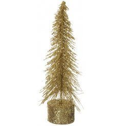 A glam inspired christmas tree, covered in golden glitter