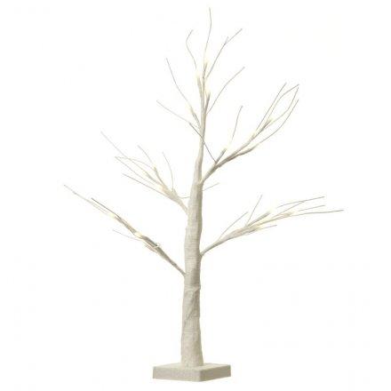 LED Glitter Tree - White