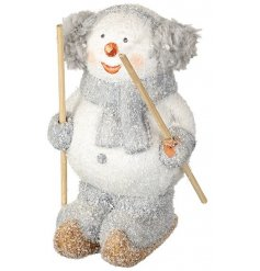 This sweet little snowman figure will add a cute and illuminating feel to any christmas display