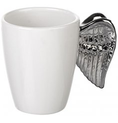 A chic angel styled ceramic mug