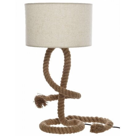 Frayed Rope Lamp with Shade