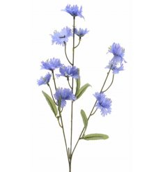 Silk Purple Cornflower  A pretty purple cornflower on a stem. A timeless floral decoration for the home.