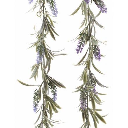 Lavender Artificial Garland 180cm