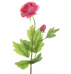 A pretty pink flower on a stem. A timeless floral decoration for the home.