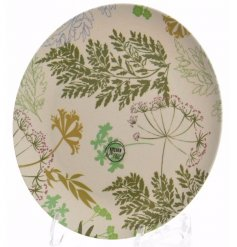 Green Leaves Kitchen Plate  Bring a splash of colour and summer fun to your kitchen with these stylish leaf patterned ki