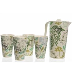Bring a splash of colour and summer fun to your kitchen with these stylish leaf patterned kitchen accessories