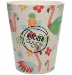 Bring a fun tropical feel to your kitchenware with this quirky flamingo themed mug