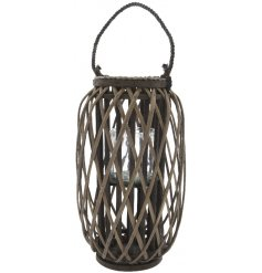 A grey washed willow lantern