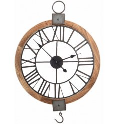 Add this large round clock into any rustic environment for a statement look