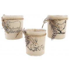 Canvas Print Tlight Holder   Display these rough luxe inspire candle holders into your home for a chic touch