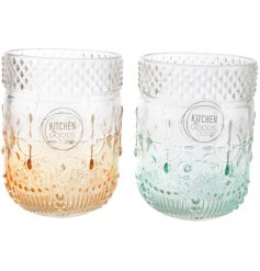 Add these sweet beach toned glasses to your kitchenware for a summer breeze feel