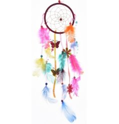 Feathered Dream Catcher  Add some colour to any room with this stylish multi coloured hanging dreamcatcher