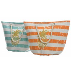 With the assorted colour tones of a tropical get away, these chic beach bags are perfect for summer travels