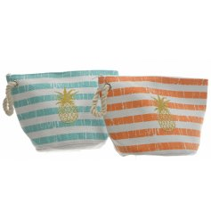 With the assorted colour tones of a tropical get away, these chic makeup bags are perfect for summer travels