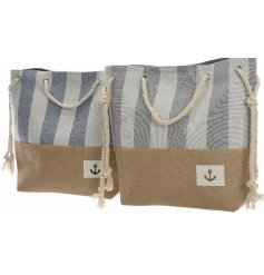 These coastal charm themed bags will be perfect for any summer holiday get away