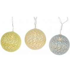 These Led lights are a fun way to add colour and light to your room, complete with yellow, orange and blue string ball l