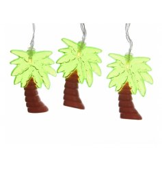 Bring a fun summer feel to your home or garden with these funky palm tree lights
