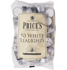 Price's tealights are made from 100% refined paraffin wax for a high quality burn time*