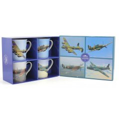 A new line of stylish china plane themed mugs