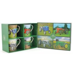 A new line of stylish china Tractor themed mugs