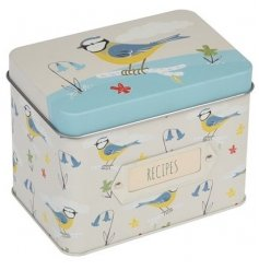 Add this sweet bird designed recipe tin for a spring chic feel