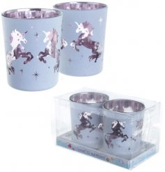 Bring a magical candle lit glow to your home space with these stylish unicorn inspired tlight holders