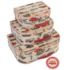 A set of 3 vintage transport cases