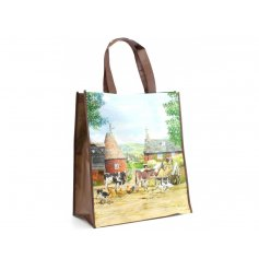 Country Life Shopping Bag  A beautiful painting inspired shopper bag, with its large size and sturdy handle, this shoppi