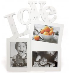 Bring a glam touch to any empty space of your home with this chic light up collage photoframe