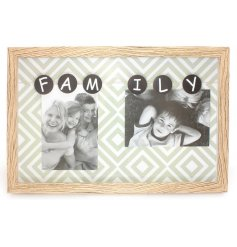 Treasure your favorite memories with your family in this quirky wooden picture frame