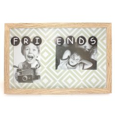 Treasure your favorite memories with your best friend in this quirky wooden picture frame