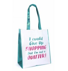 A quirky and practical shopper bag with an almost inspirational quote