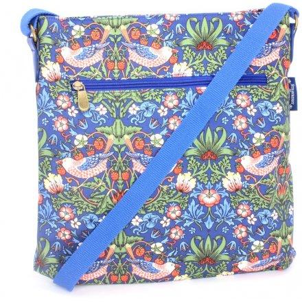Vintage Blue Strawberry Thief Side Bag