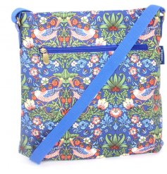 A beautifully decorated side bag from the Strawberry Thief Collection