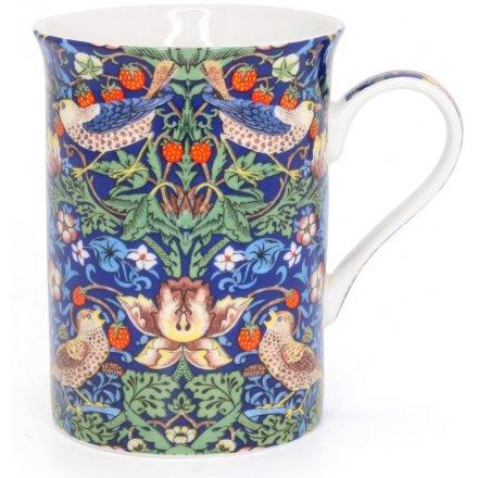 Vintage Blue Strawberry Thief Mug