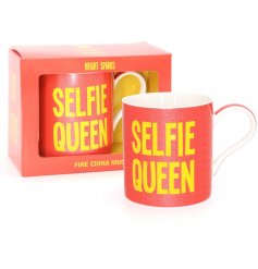 Take that perfect morning selfie with this glitzy inspired mug right in the centre of it