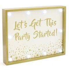 If you love a glass of fizz just as much as we do, then you will love this wooden LED sign