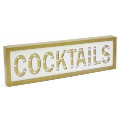 If you love cocktails just as much as we do, then you will love this wooden LED sign