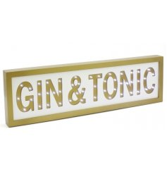 This bright glowing LED wooden plaque is the perfect addition to any event that involves gin!