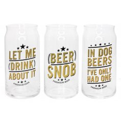 Add a funky twist to any beverage providing party with these fun Beer Can inspired glasses