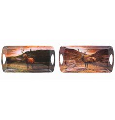 Bring the wilderness to your home with these beautifully printed stag trays