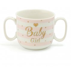 A beautiful Mad Dots designed baby mug