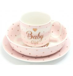 A beautiful Mad Dots designed baby girl gift set