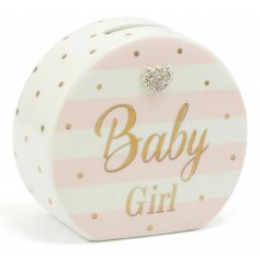 Mad Dots Baby Girl Money Box   A beautiful Mad Dots designed baby girl money box