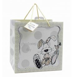 A beautifully decorated gift bag, perfect for any Christening Day
